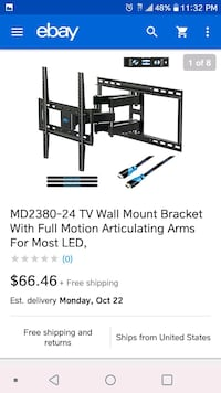"Tv wall mount for 26""-55"" Oxnard, 93033"
