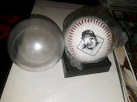 mlb ny Yankees babe ruth baseball w case & stand  Las Cruces, 88001