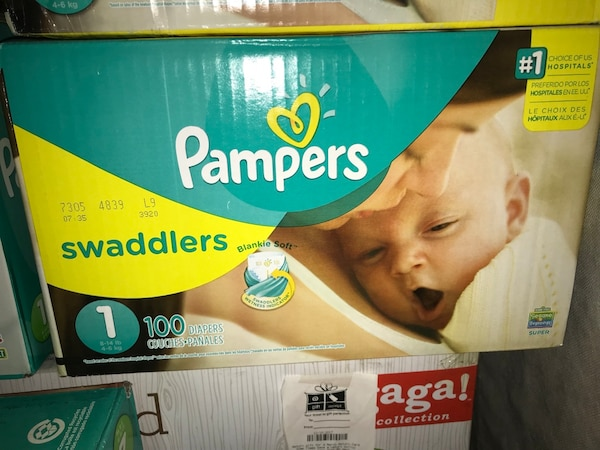 Pampers swaddlers disposable diaper box 17ebbee3c