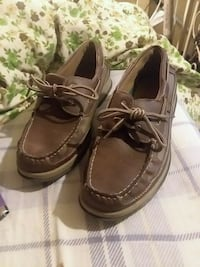 pair of brown leather boat shoes Columbus, 31909