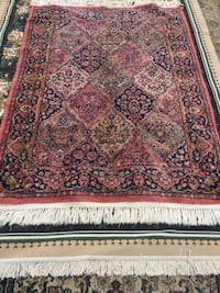 red, white, and black floral area rug Springfield, 22151