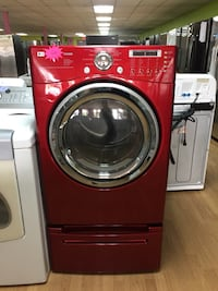 LG red dryer with pedestal  Woodbridge, 22191
