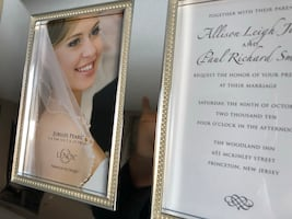 Elegant silver frame great for a gift or an Addison to your home.