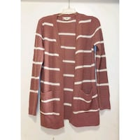 Pink Striped Knit Cardigan Bakersfield, 93306