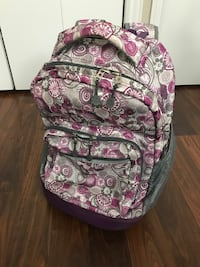 Gray and purple floral rolling backpack La Grange Park, 60526