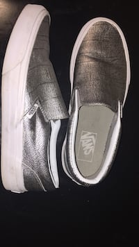 Pair of brown and white slip on shoes Howell, 07731