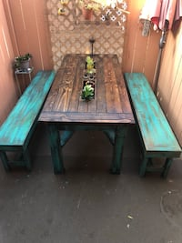 Shabby chic picnic style patio table Torrance