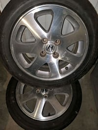 EM1 CIVIC SI WHEELS WITH CENTER CAPS