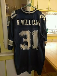 blue and white jersey