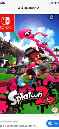 Jeu splatoon 2 pour switch