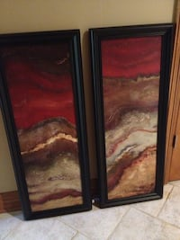 "Contemporary pictures. Used less than a year. 41""x16"" each Elkhorn, 68022"