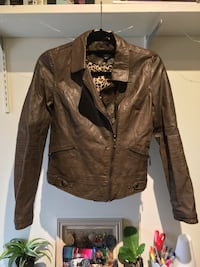 Brown leather zip-up jacket Ann Arbor, 48104