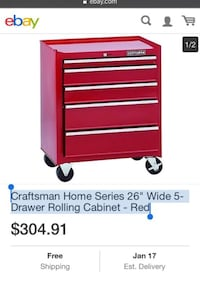 red and black Snap-On tool cabinet screenshot Orland Park, 60462