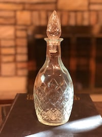 Antique etched glass liquor bottle Brantford, N3R 7C7