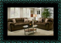 Chocolate fabric sofa and loveseat Rockville, 20847