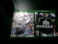 Xbox one Madden 17 and 18 . Will sell separately  Middletown, 45044