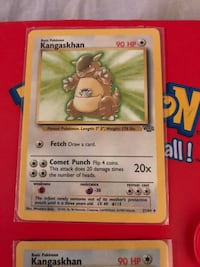 Pokemon Jungle Set Kangaskhan Non-Holo & Holo Rares Cards Vintage Richmond, V6Y 0A7