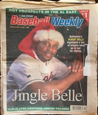 Orioles Albert Belle Baseball Weekly December 1998 Lebanon