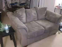 brown fabric 3-seat sofa Dale City, 22193