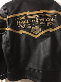 Harleydavidson Men's XL Black Leather Jacket 474 km