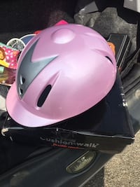 Pink and grey horse riding hat  Stratford-upon-Avon, CV37 7LE