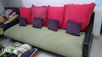 red and black fabric sofa Thane, 400607