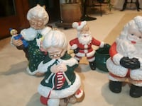 Ceramic Christmas Figurines 2 santa, 2 Mrs Claus Manassas, 20111