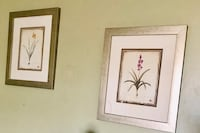 Two white and brown wooden framed painting of flowers Bethlehem, 18018