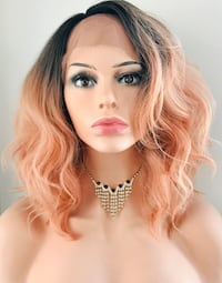 Very Pretty Coral Pink Wig for The Holidays  Calgary, T2P