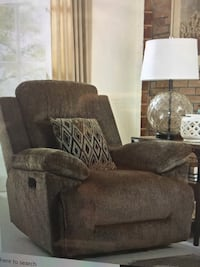 brown suede sofa chair with ottoman Farmers Branch, 75234