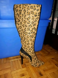 Leopard Print Boots Size 7.5. PU only! Toronto, M9R 0A3