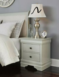 Jorstad Gray Nightstand   Houston