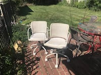 White metal office chairs from Ikea Columbus, 43214
