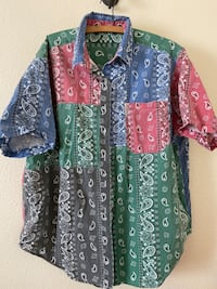 Venezia bandana button up size Large  Oklahoma City, 73145