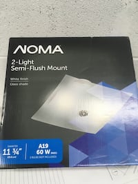 NOMA Retro 2-Light Flush Mount, White, new Toronto, M6J 2R2