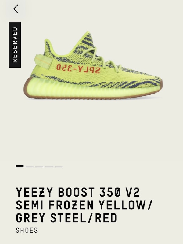 d1169c22789 Used Yeezy Boost 350 V2 Semi Frozen Yellow for sale in Toronto - letgo