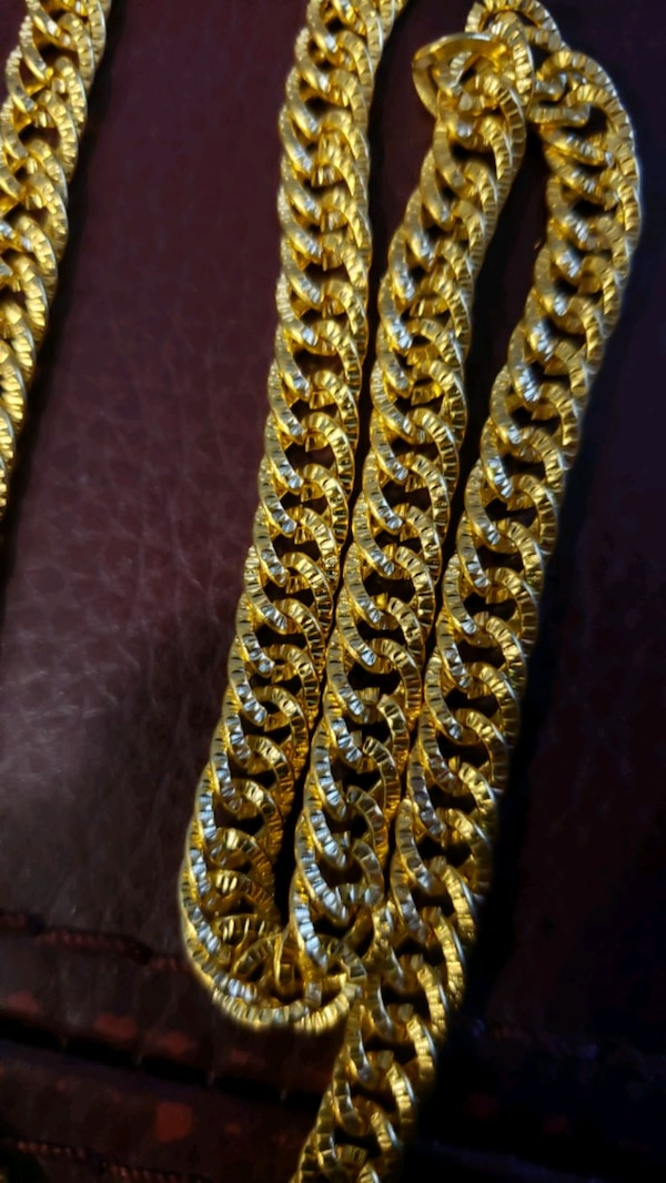 18k GOLD FILLED CHAIN NECKLACES & BRACELET NEW 054f9955-9323-441a-99e2-c34b956058f1