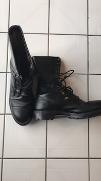 pair of black leather combat boots Brampton, L6S 5E9