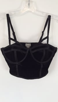 Brand New Black Velour bustier  Laval, H7X 4B6