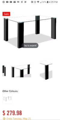 Glass dining table Laval, H7X 1A7