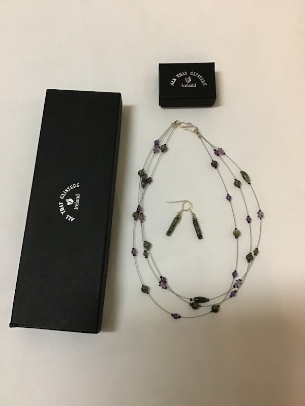 SUE BOWDEN Ireland sterling silver necklace & matching earrings 63416015-b78c-4889-a5ea-b32a74e13c01