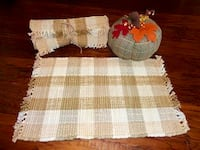 NEW Set of 4 French Country Plaid Placemats & Pumpkin  Oklahoma City, 73012