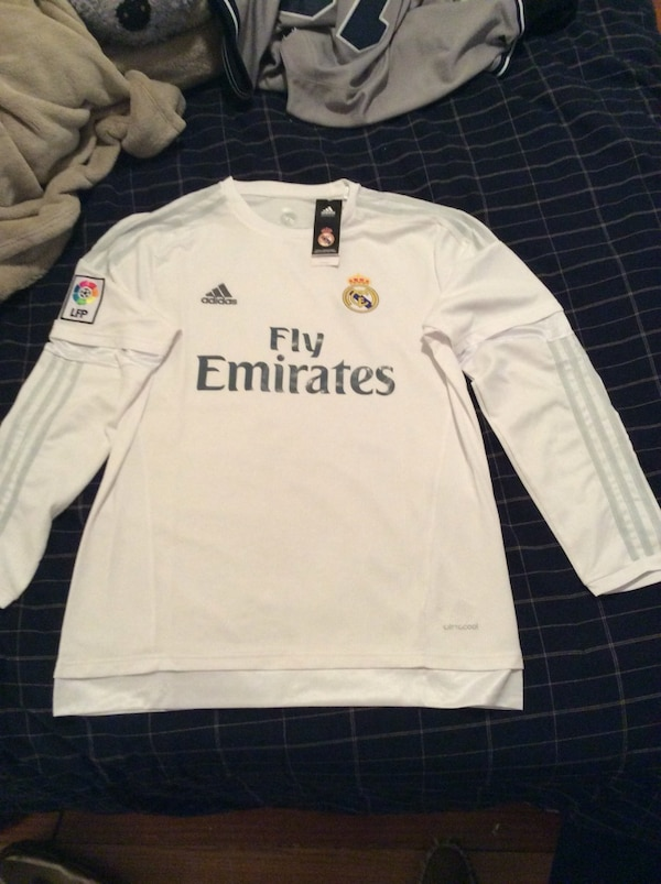 wholesale dealer 04b40 6007a Real Madrid white Ronaldo jersey(long sleeve)