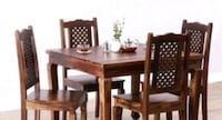 rectangular brown wooden table with six chairs dining set Jodhpur, 342005