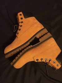 pair of brown Timberland work boots Natrona Heights, 15065