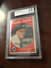 Topps Mickey Mantle HOF #10 BVG 5 EX Baseball Card