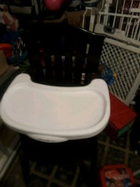 baby's white and black high chair Gainesville, 20155
