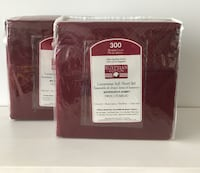NEW Dark Deep Red Twin/Jumeau Bedsheet set, 2 sets available Montreal