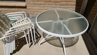 round white metal framed glass top table Tucson, 85748