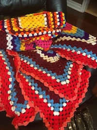 Queen size hand made bedsheet or can be use as blanket excellent condition  Brampton, L7A